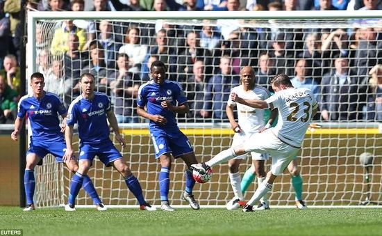 Lần đầu thua Swansea, Chelsea có nguy cơ vắng bóng ở cúp châu Âu
