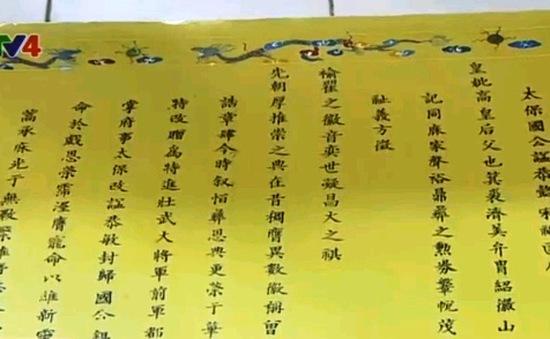 TT-Huế: Số hóa tư liệu Hán Nôm ở các dòng tộc
