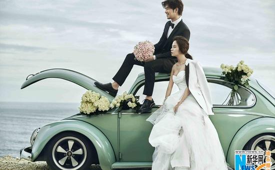 """Song Ji Hyo bất ngờ chụp ảnh cưới với """"chồng hờ"""" Trần Bách Lâm"""
