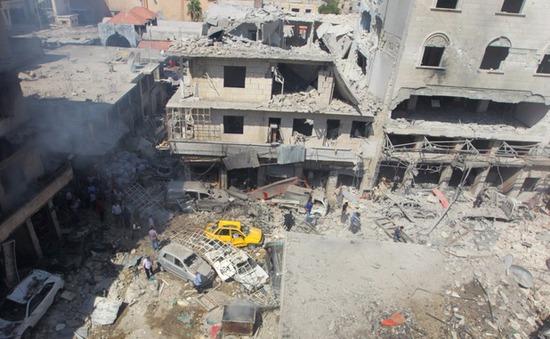 Đoàn xe cứu trợ đầu tiên đến Syria sau lệnh ngừng bắn mới