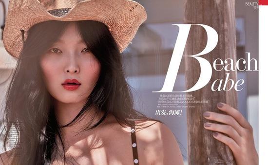 Chân dài Hàn Quốc khoe vẻ ngọt ngào trên Vogue