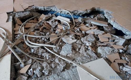 Sụt lún ở chung cư N5 khu đô thị Đồng Tàu: Gấp rút khắc phục sự cố