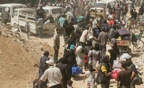 Gần 1.000 tay súng đối lập tại Syria sơ tán khỏi Damascus