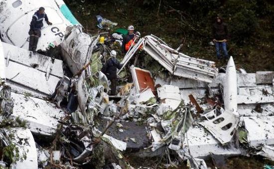 72 người thiệt mạng trong vụ rơi máy bay tại Colombia