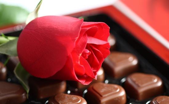 Ngày Valentine: Hoa hồng và socola vẫn là nhất