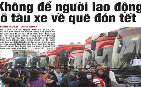 Không để người lao động lỡ tàu xe về quê đón Tết
