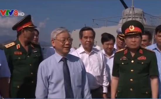 Tổng Bí thư thăm Bộ Tư lệnh Vùng 4 hải quân