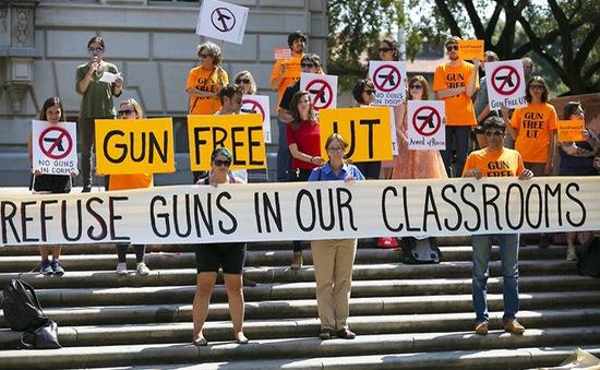 Đại học Texas, Mỹ cho phép sinh viên mang súng vào giảng đường