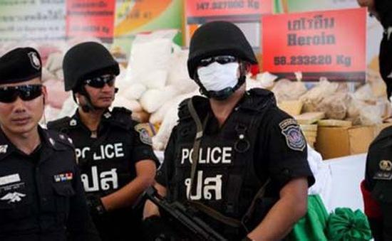 Cảnh sát Thái Lan thu giữ lượng lớn ma túy tại phía Nam Bangkok