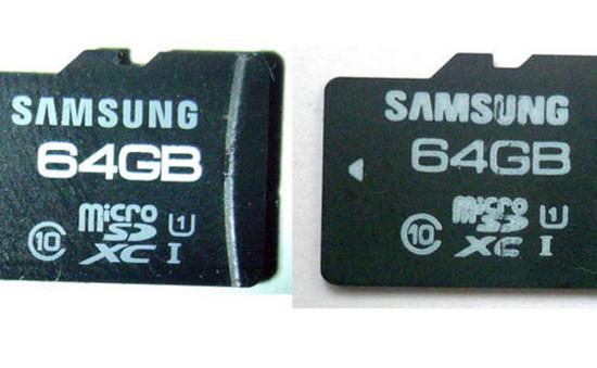 Cách phân biệt thẻ microSD thật và giả