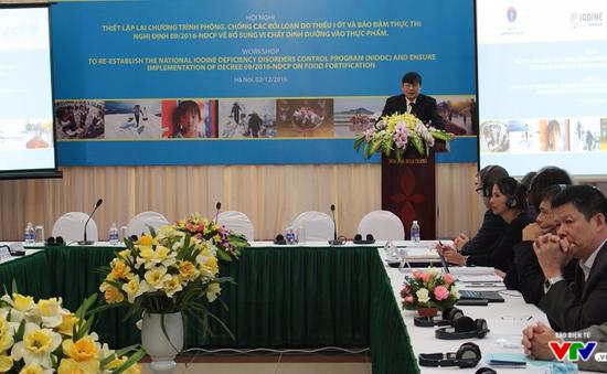 Báo động tình trạng thiếu hụt i-ốt quay trở lại Việt Nam