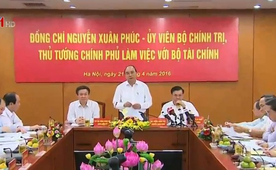 Thủ tướng làm việc với Bộ Tài chính
