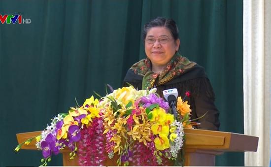 Phó Chủ tịch Quốc hội Tòng Thị Phóng tiếp xúc cử tri tại Sơn La