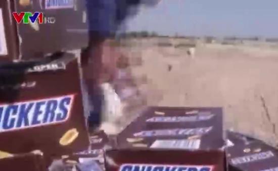Tiêu hủy 15 tấn kẹo chocolate Mars tại Palestine