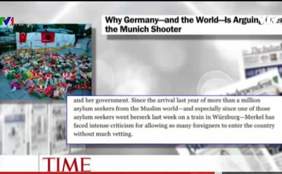 Vụ xả súng tại Munich, Đức tiếp tục hâm nóng báo chí quốc tế