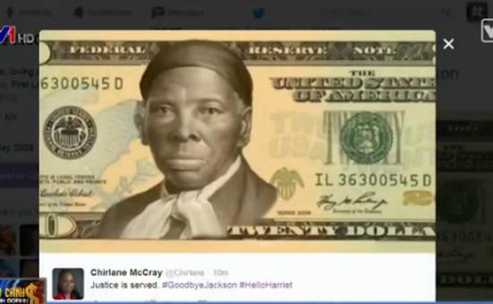 Phụ nữ da màu đầu tiên được in hình trên tờ 20 USD