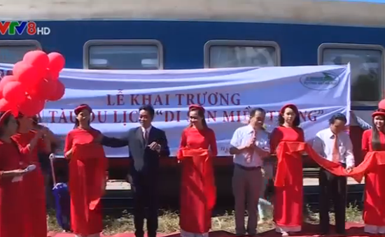 """Khai trương toa tàu du lịch """"Con đường di sản miền Trung"""""""