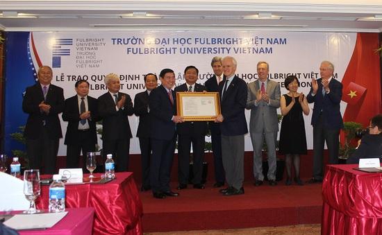 Đại học Fulbright Việt Nam bắt đầu đào tạo từ tháng 9