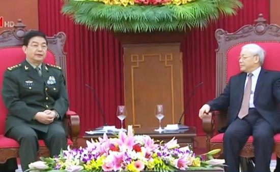 Tổng Bí thư Nguyễn Phú Trọng tiếp Bộ trưởng Quốc phòng Trung Quốc
