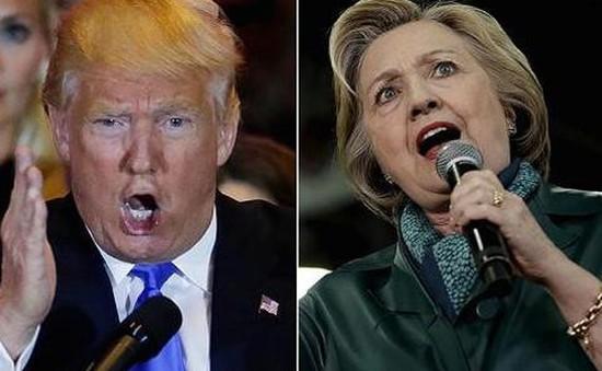 Bầu cử Mỹ 2016: Tỷ phú D.Trump tiếp tục thu hẹp khoảng cách với bà H.Clinton