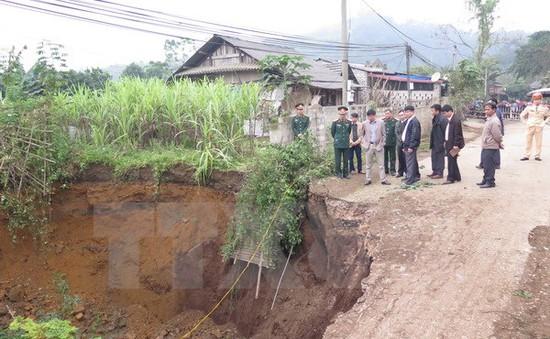 """Tiếp tục xảy ra sụt lún nghiêm trọng tại """"hố tử thần"""" ở Bắc Kạn"""