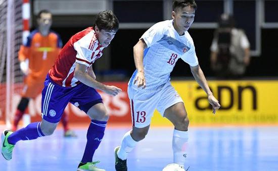 Thua đậm Paraguay, ĐT Futsal Việt Nam nuôi mộng cầm hòa Italy