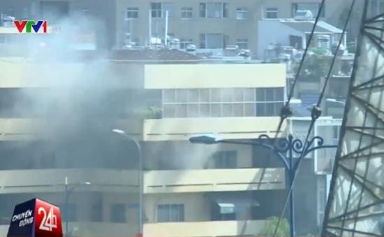 Cháy lớn tại Bệnh viện Quận 4, TP.HCM