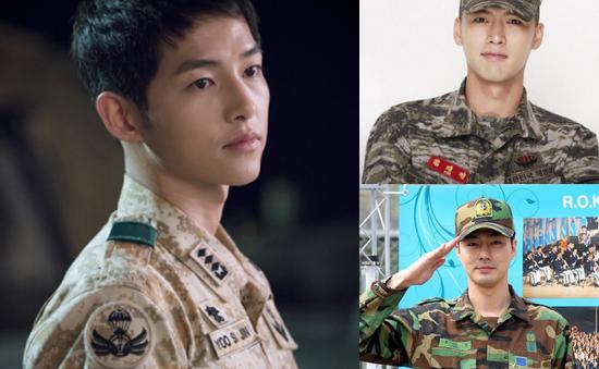 Khi sao nam Hàn mặc áo lính đẹp như Song Joong Ki
