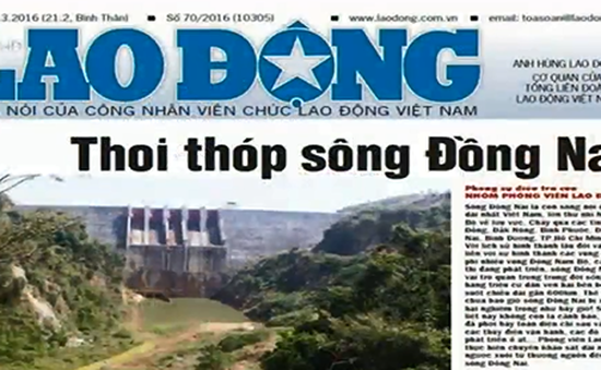 """Sông Đồng Nai đang... """"thoi thóp"""""""