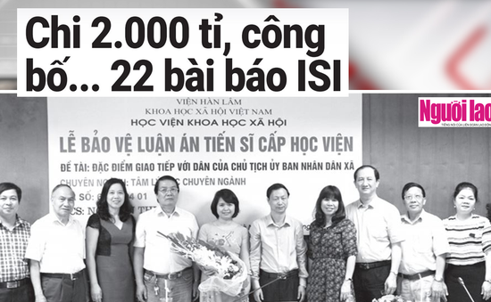 2.000 tỷ đồng cho 22 bài báo trên tạp chí khoa học