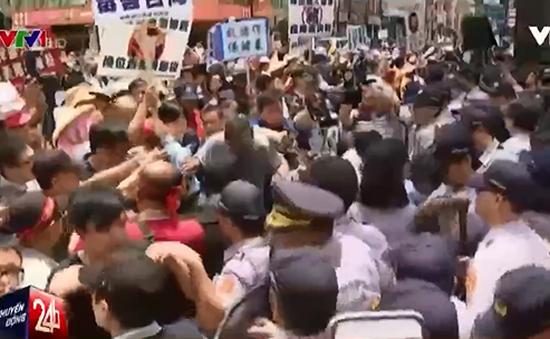Đài Loan biểu tình phản đối nhập khẩu thịt lợn từ Mỹ