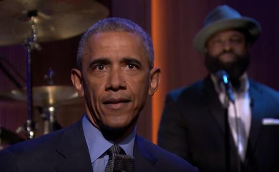 Tổng thống Obama gây bất ngờ với phong cách nhạc Soul trên truyền hình Mỹ