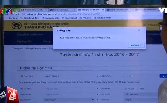 Gặp khó trong việc đăng ký trực tuyến vào lớp 1 tại nhiều trường ngoại thành Hà Nội