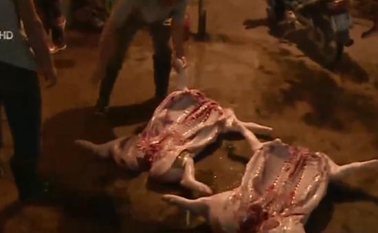 """""""Đường đi"""" của những miếng thịt từ lò giết mổ"""