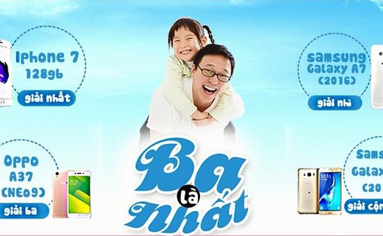"""Cuộc thi ảnh """"Ba là nhất"""": Cùng VTVcab chia sẻ khoảnh khắc tình cảm cha con"""