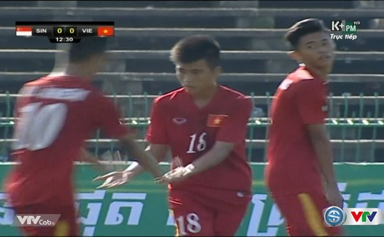 VIDEO U16 Việt Nam: Đình Hai dứt điểm hiểm hóc, tung lưới U16 Singapore