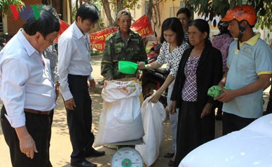 Hơn 2.000 tấn gạo cứu trợ đến với bà con Tây Nguyên