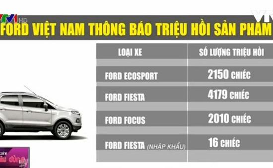 Ford Việt Nam thông báo triệu hồi hơn 8.300 xe