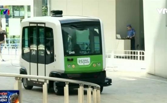 Nhật Bản ra mắt xe bus không người lái đầu tiên