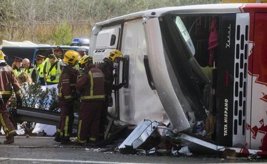 Tai nạn xe bus ở Tây Ban Nha, 14 sinh viên thiệt mạng