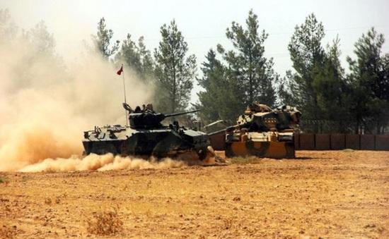 IS tấn công xe tăng Thổ Nhĩ Kỳ, gần 10 người thương vong