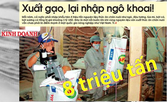 """Việt Nam xuất khẩu gạo lại nhập ngô khoai - """"Vào lỗ hà ra lỗ hổng"""""""