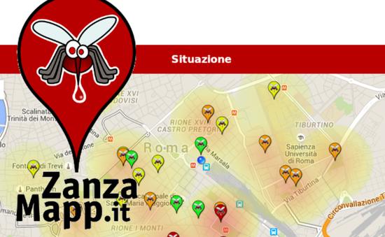 Ứng dụng bản đồ muỗi trên điện thoại gây sốt tại Italy