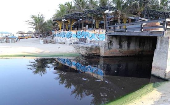 """Đà Nẵng: Phát hiện 2 công trình xây dựng khách sạn xả thải """"chui"""""""