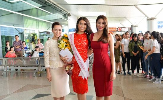 Phạm Hương tiễn Lệ Hằng lên đường thi Miss Universe