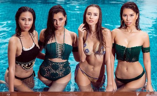 Hà Anh đọ vẻ gợi cảm bên Hoa hậu, Á hậu Toàn cầu 2016
