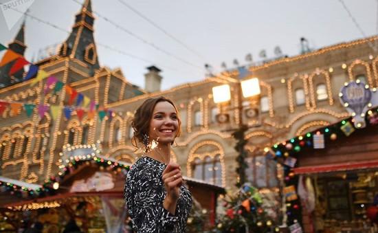 Chùm ảnh: Moscow rực rỡ ánh đèn đón Giáng sinh 2017