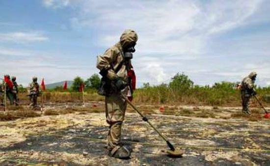 Kết quả thử nghiệm tẩy độc đất nhiễm Dioxin tại sân bay A Sho huyện A Lưới