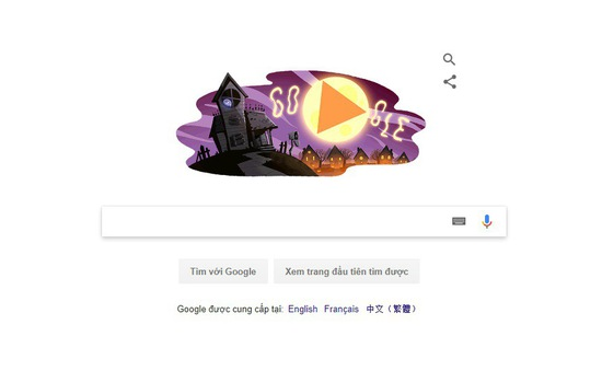 """Google diện """"áo mới"""" nhân dịp Halloween"""