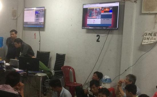 Bao vây, đột kích tổ hợp cờ bạc ở vùng ven TP.HCM